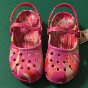 Crocs Mary Jane Strawberry Swirl Sz 7